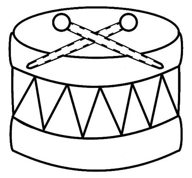 Desenho de tambor para colorir