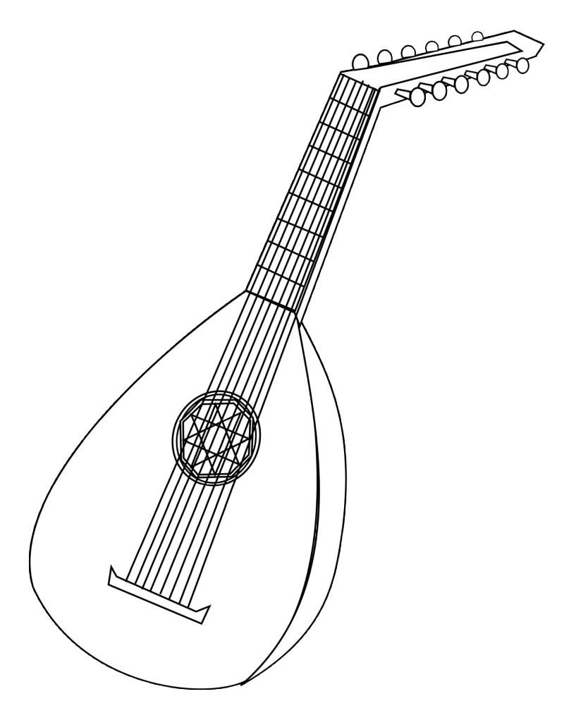Desenhos de banjo para colorir