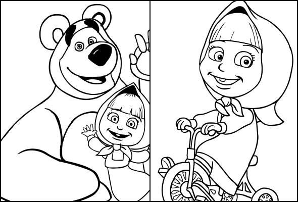 Desenhos De Marsha E O Urso Para Colorir Pop Lembrancinhas