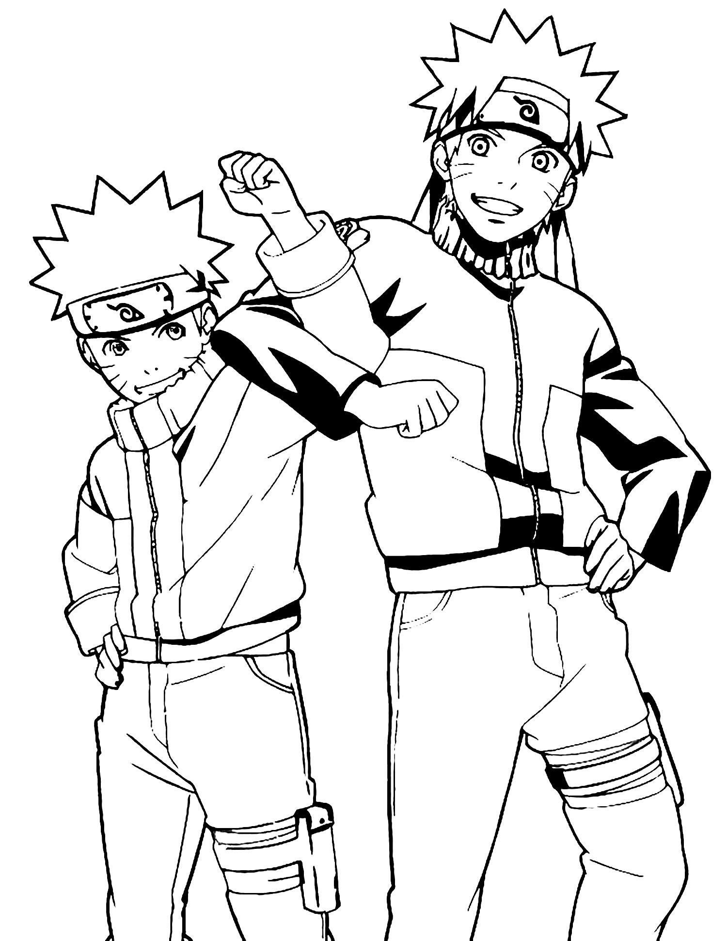 Desenho de Naruto para decalcar