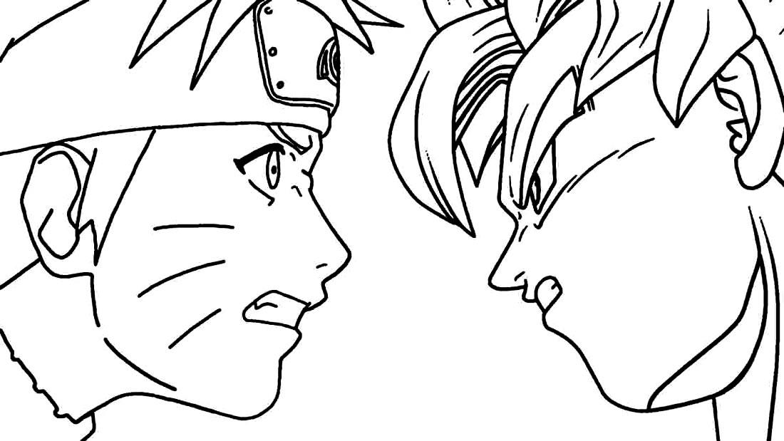 Imagem para colorir de Naruto