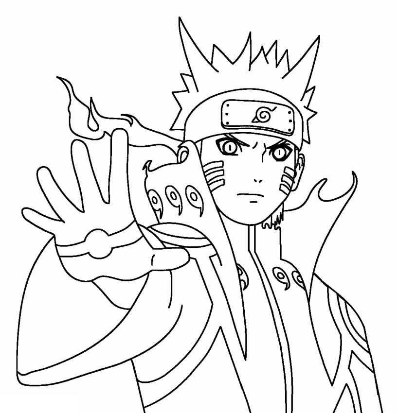 Imagem de Naruto para pintar