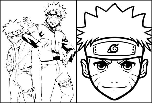 Desenhos de Naruto para imprimir e colorir