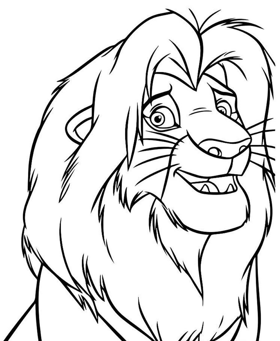 Molde de O Rei Leão para colorir
