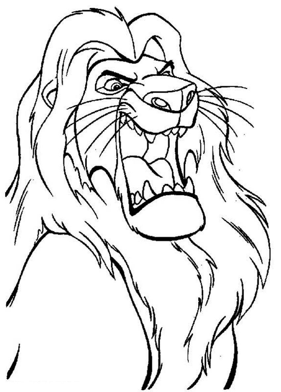 Imagem de O Rei Leão para colorir