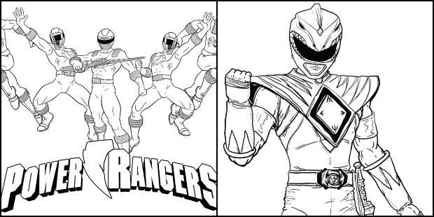 Desenhos Dos Power Rangers Para Colorir Pop Lembrancinhas