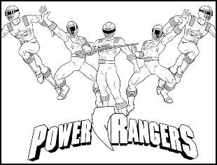 Desenhos dos Power Rangers para colorir