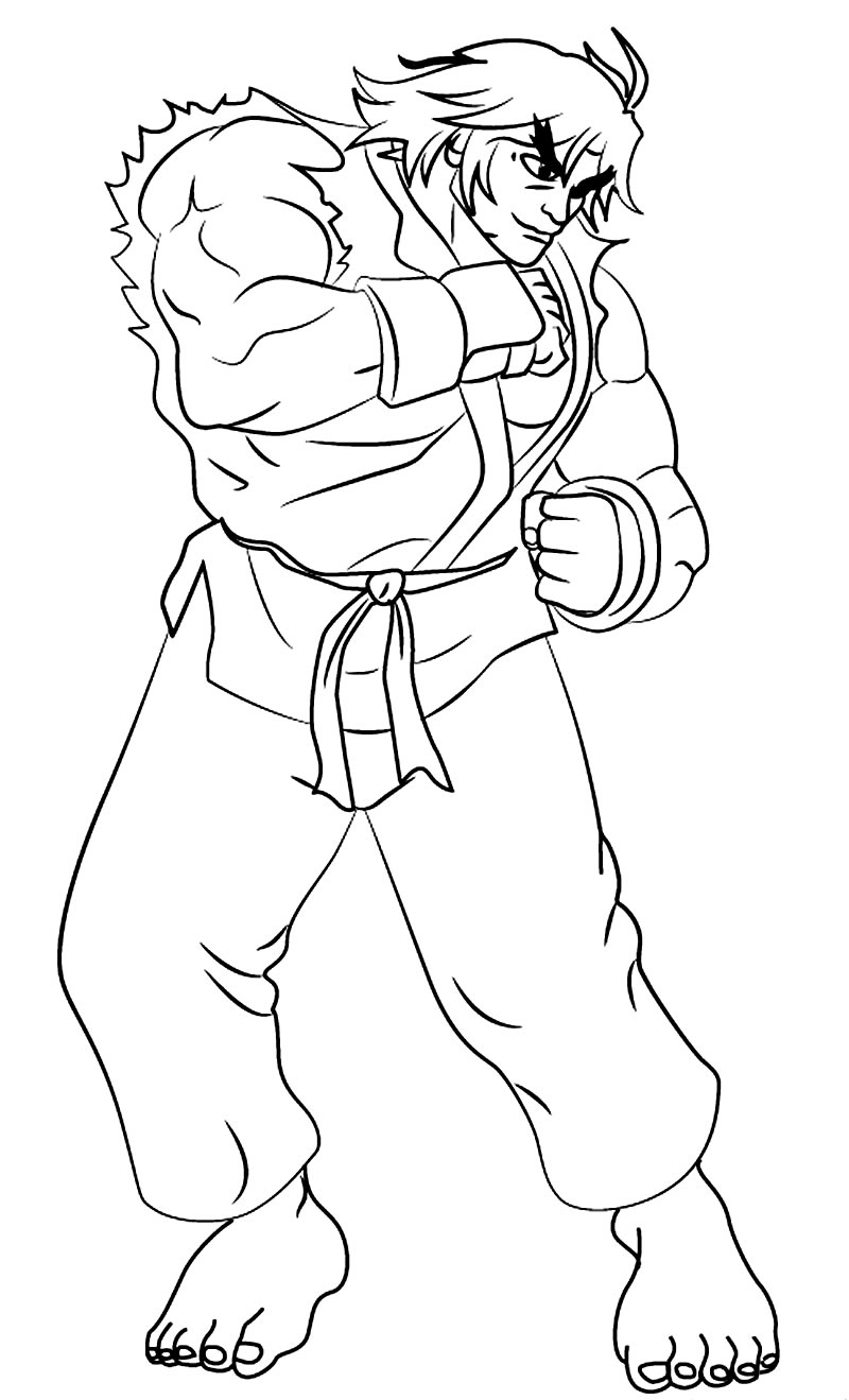 Imagem de Street Fighter para pintar
