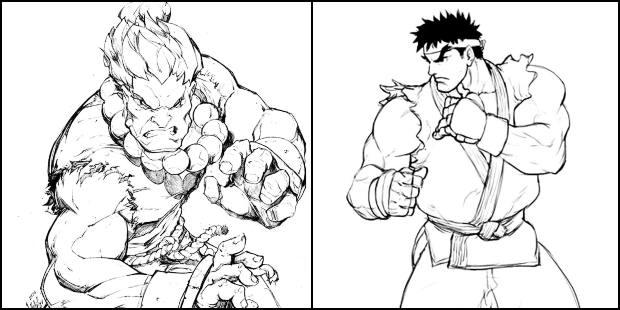 Desenhos de Street Fighter para colorir