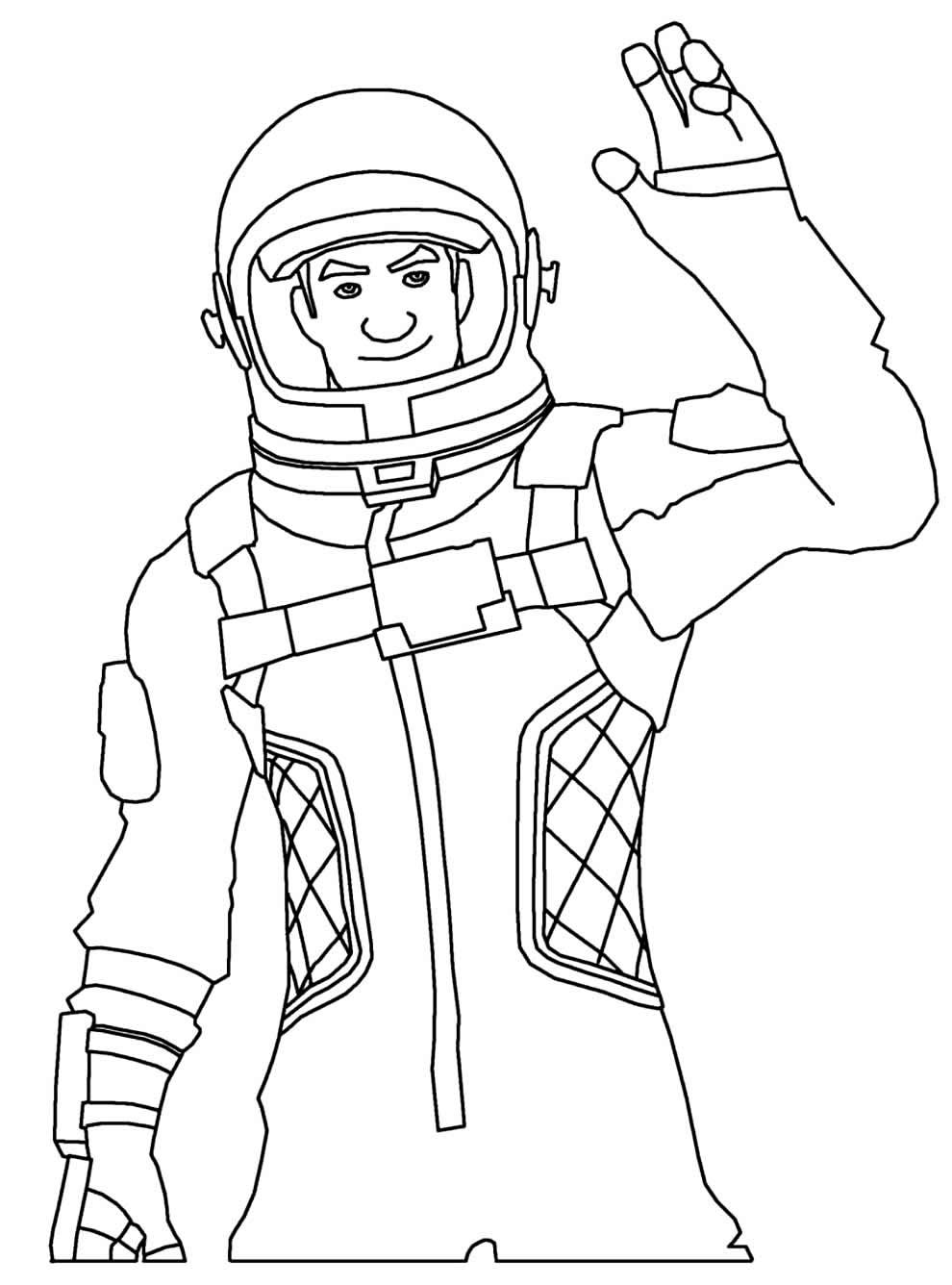 Desenho para colorir de Fortnite