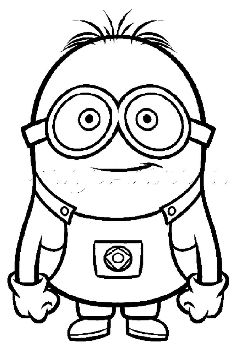 Desenho de Minions para pintar