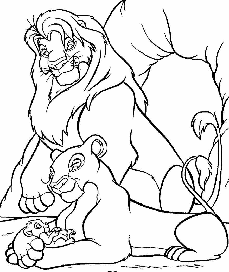 Imagem do Rei Leão para colorir