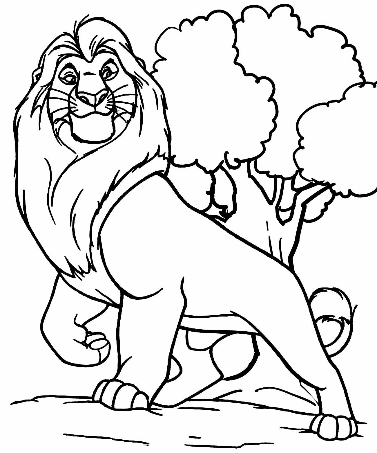 Desenho do Rei Leão para pintar
