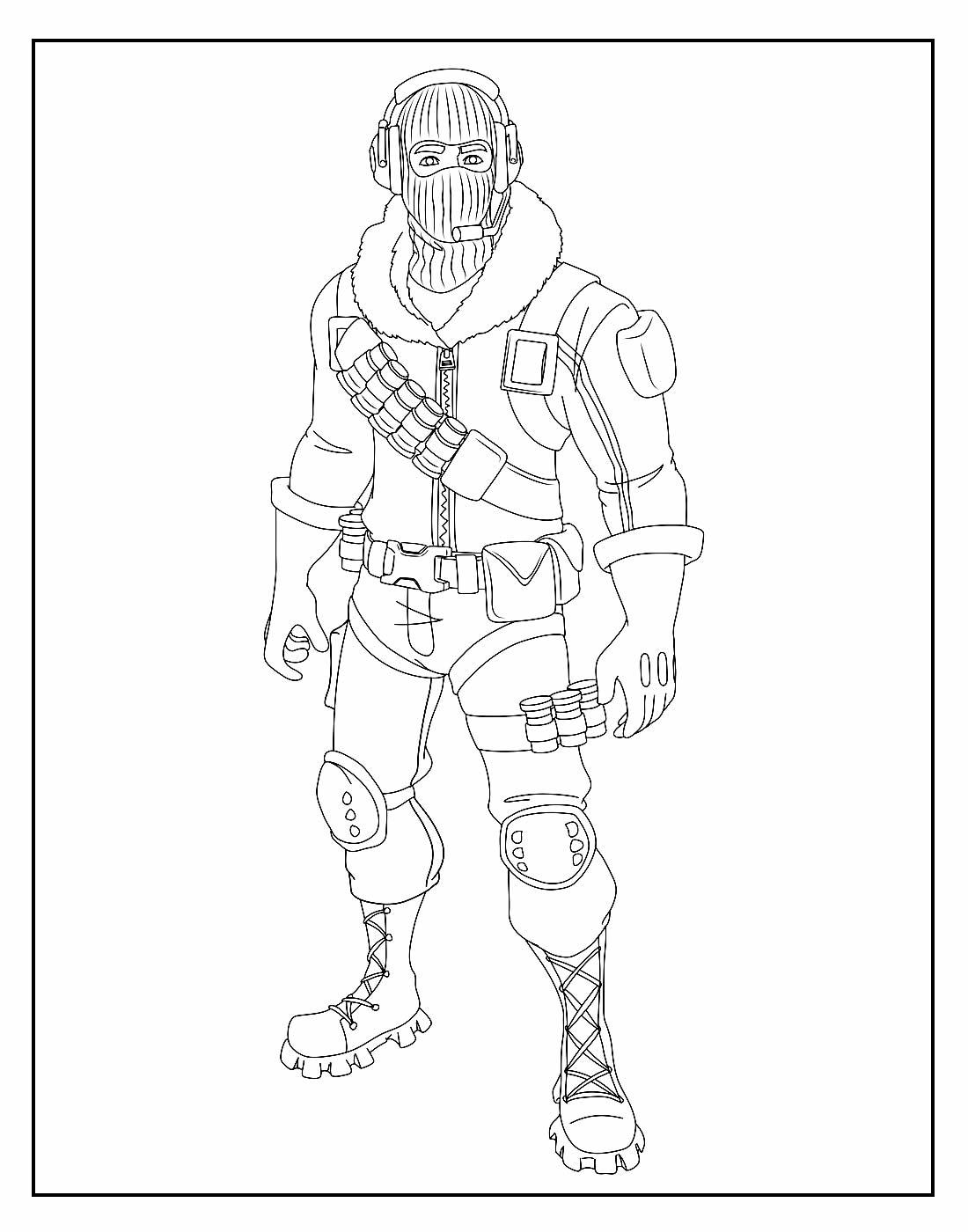 Desenho Fortnite para colorir