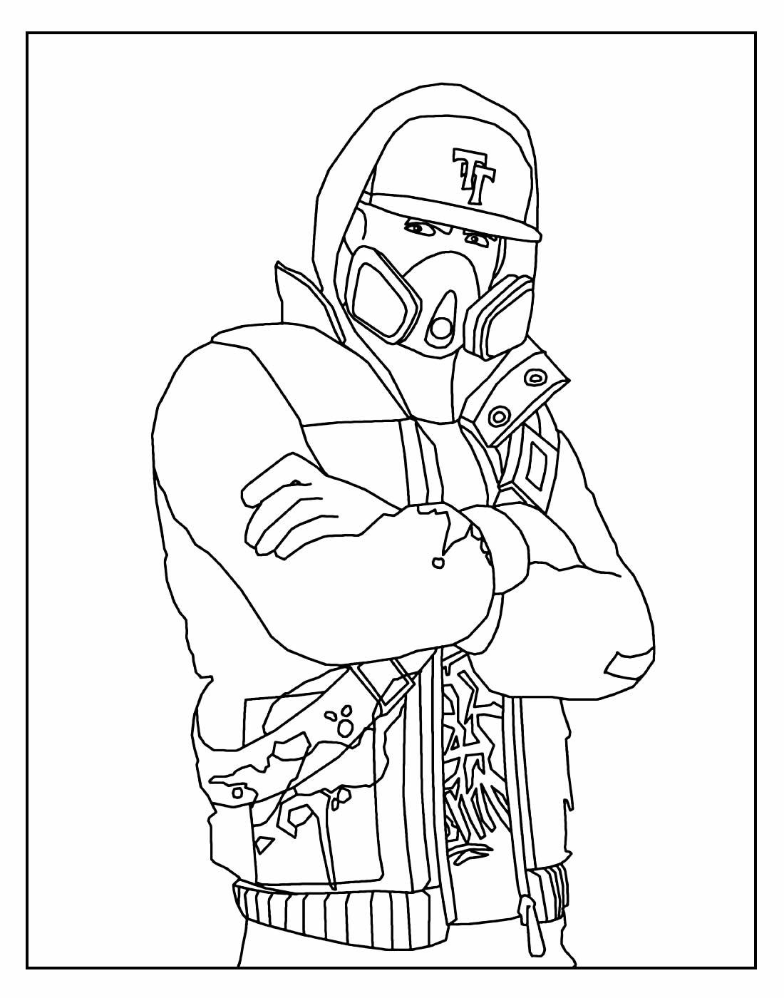 Desenho para colorir Fortnite