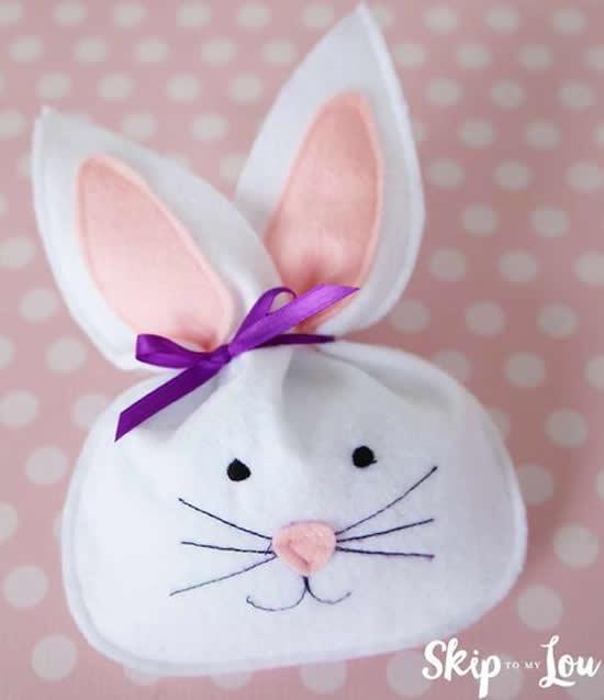 Sacolinha de coelho para lembrancinha de Páscoa