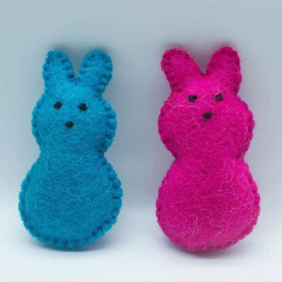 Lindos coelhinhos de tecido para Páscoa
