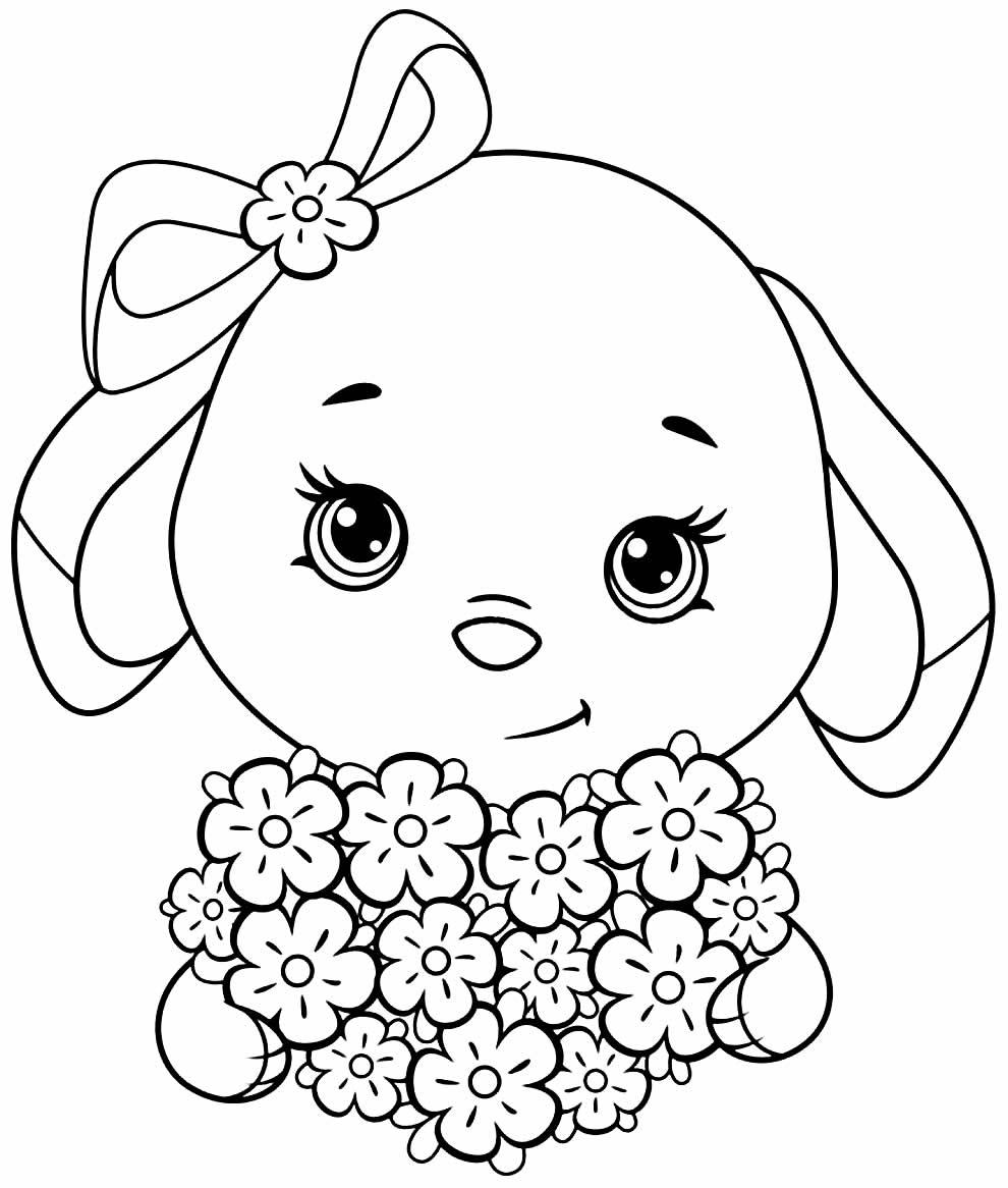 Desenho para colorir de Coelhinho de Páscoa