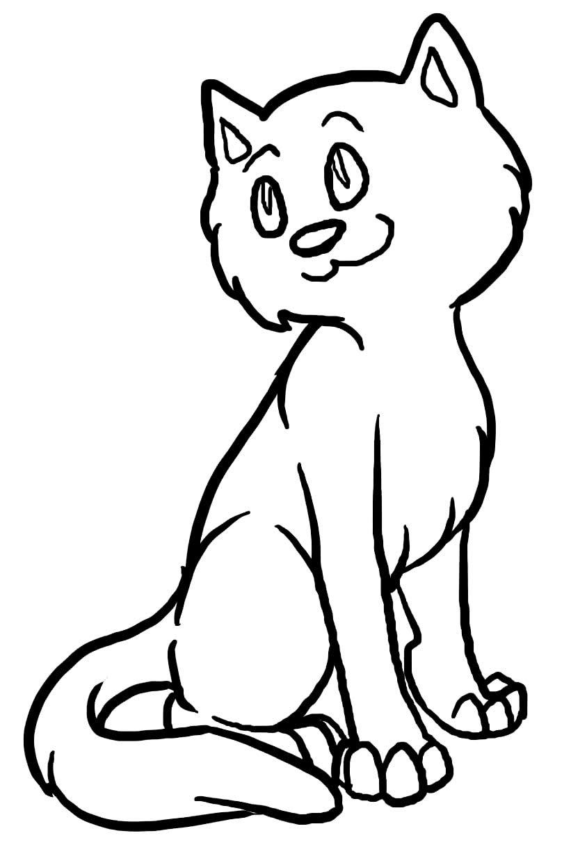 Desenho para colorir de gatinho