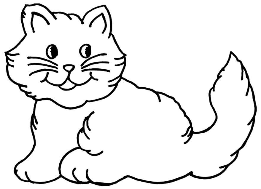 Desenho para colorir de gatinha