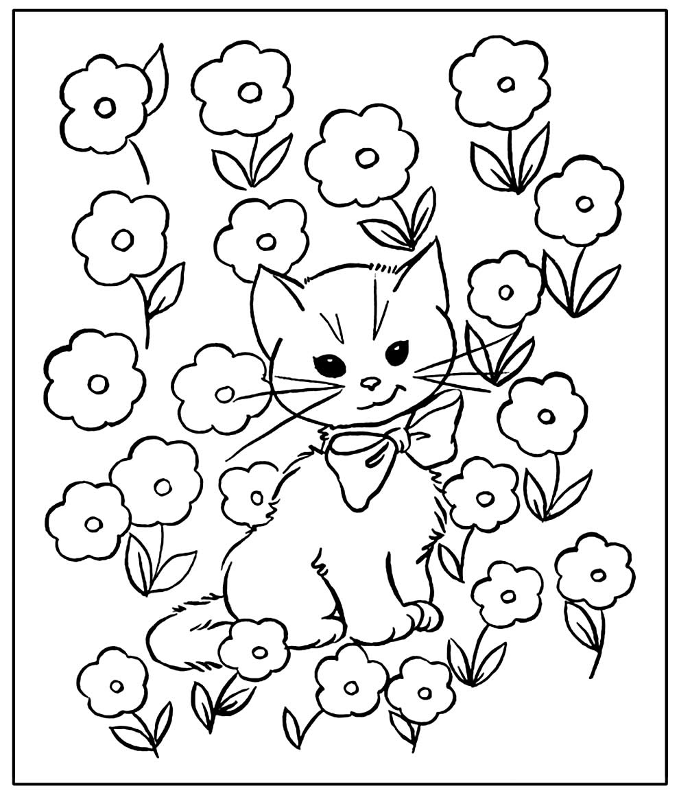 Desenho de gatinho para colorir