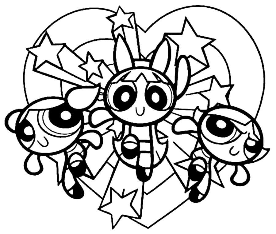 Desenhos das Meninas Super Poderosas para colorir