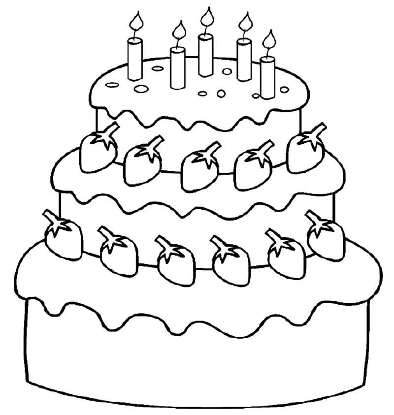 Imagem de bolo para colorir
