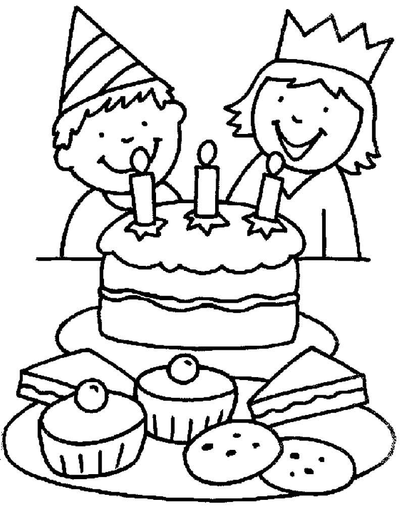 Desenho de bolo para pintar