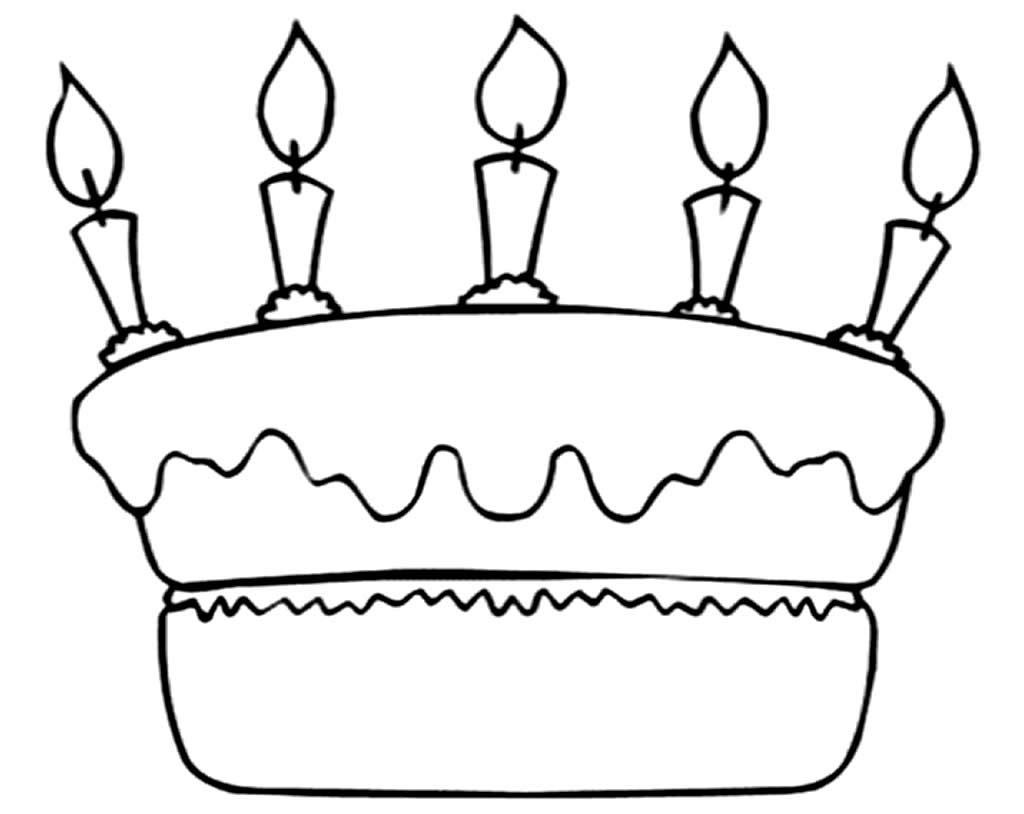 Desenho de bolo para colorir