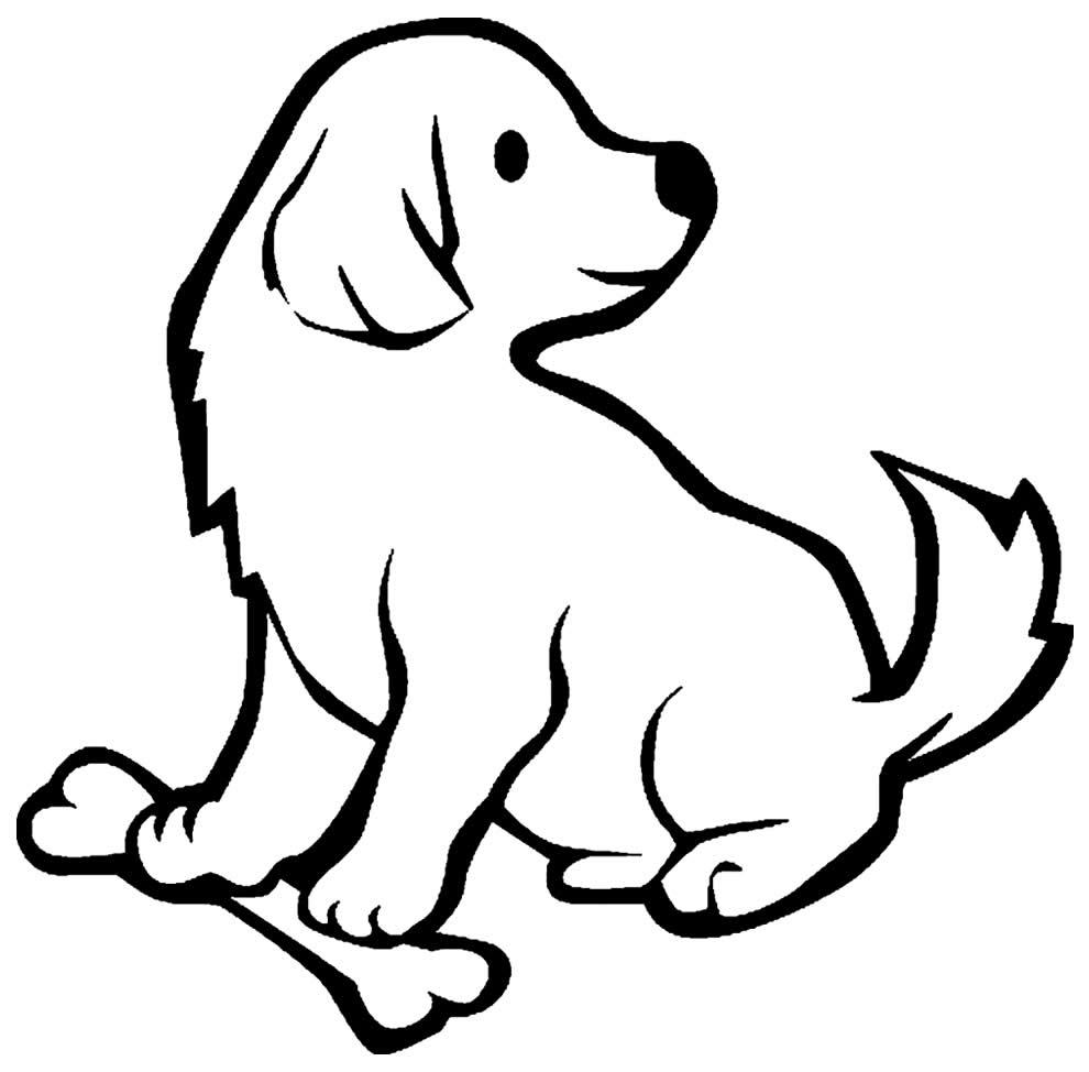 Imagem de cachorrinho para pintar
