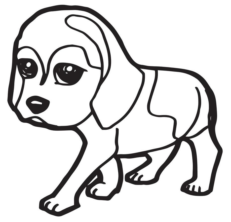 Desenho de cachorrinho fofo para colorir