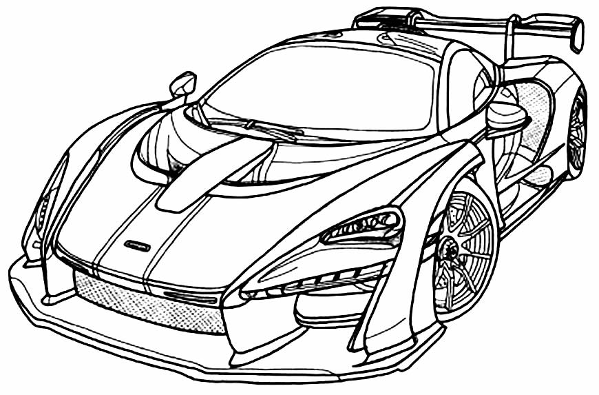 Desenho de carros para pintar