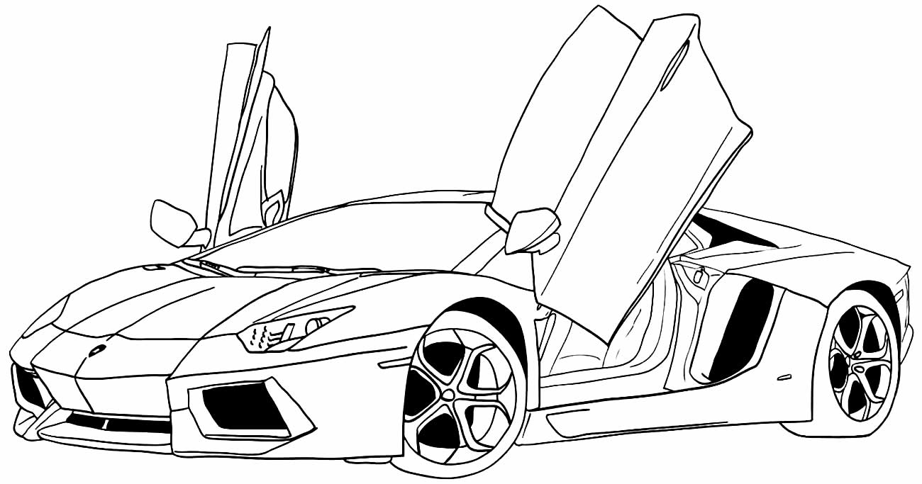 Desenho de carros para colorir