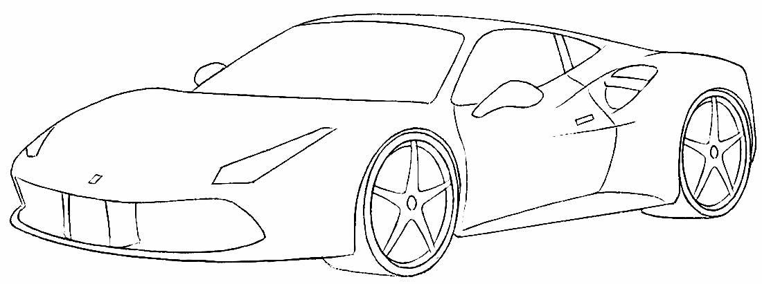 Lindo desenho de carro para colorir