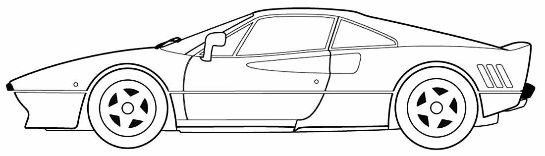 Lindo desenho de carro para pintar