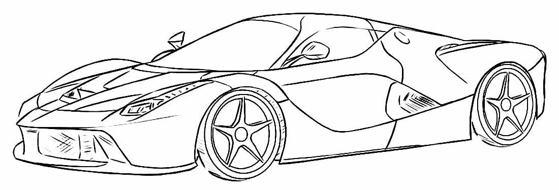Carro para colorir