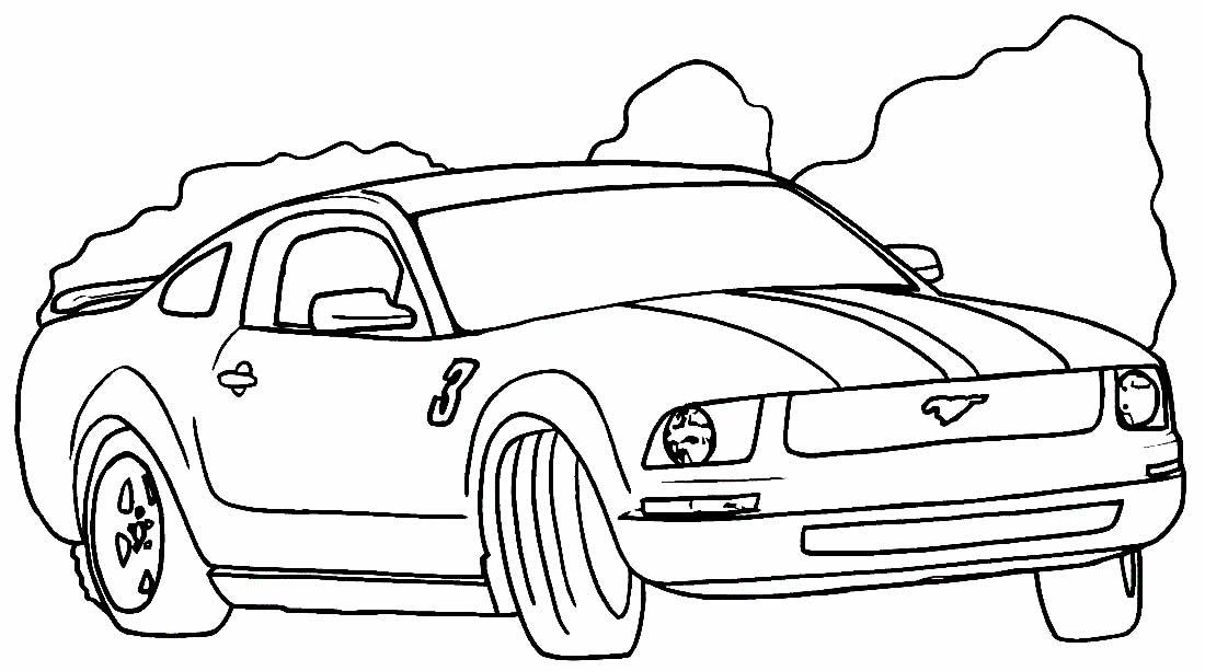 Desenho de carro para colorir