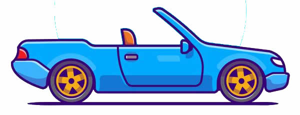 Desenho de carro conversível