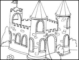 Desenhos de castelo para imprimir e colorir