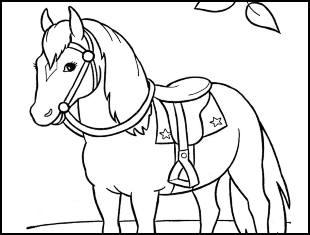 Desenhos de cavalo para colorir