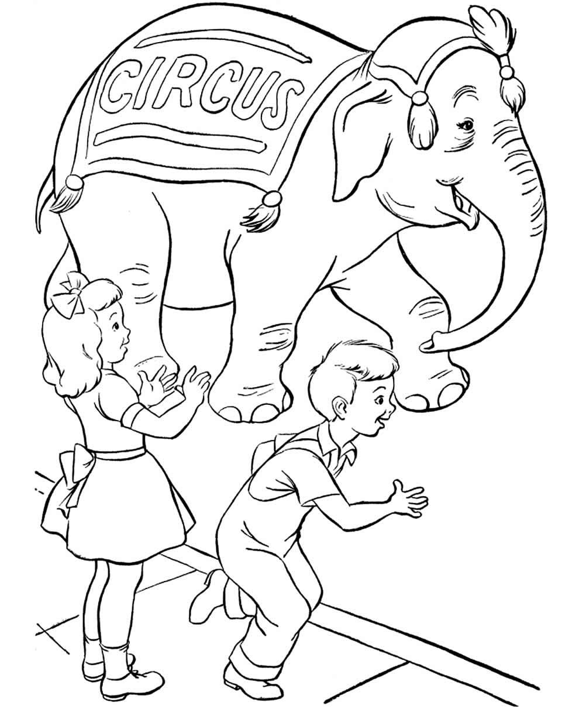 Imagem de circo para pintar
