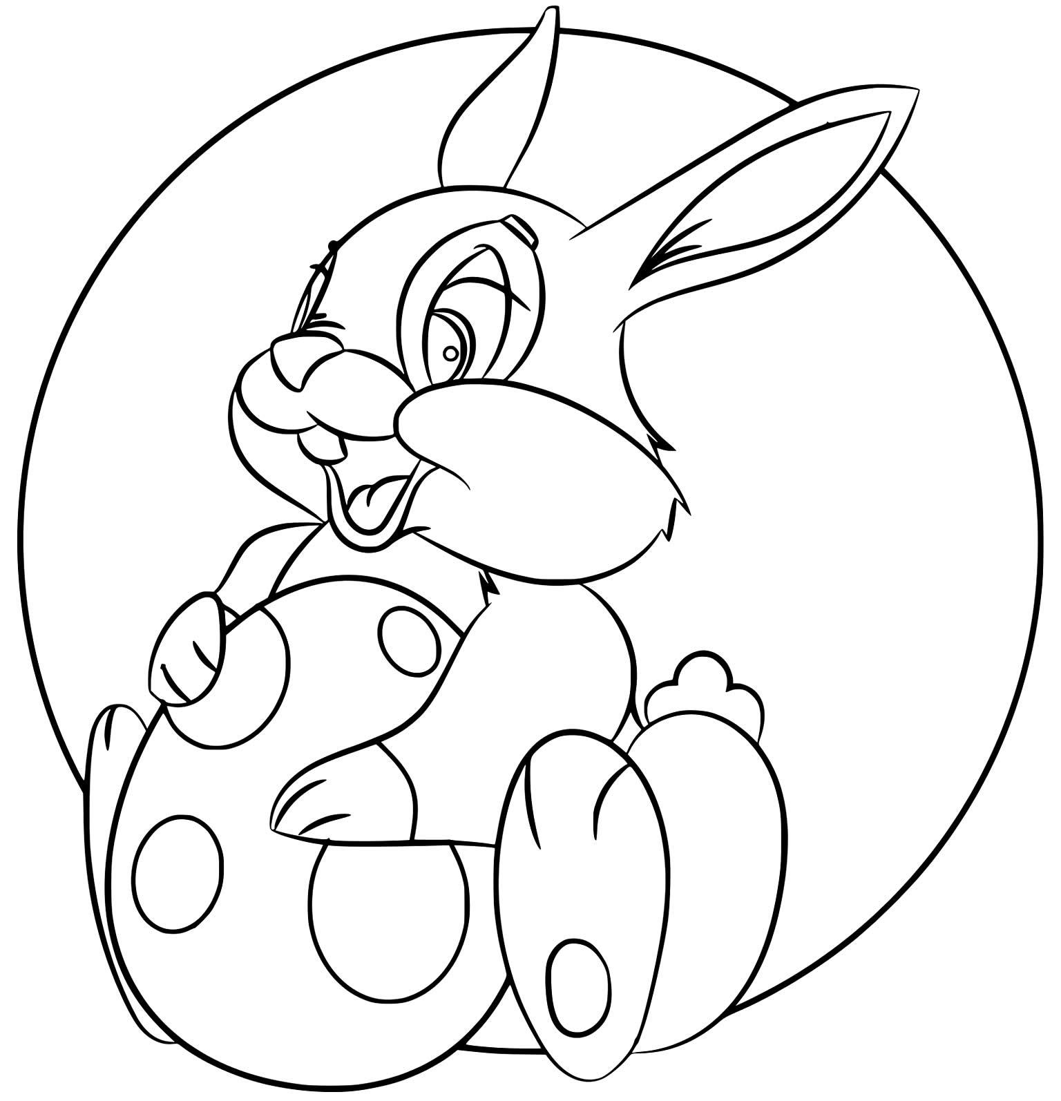 Desenhos de Coelhinho da Páscoa para pintar