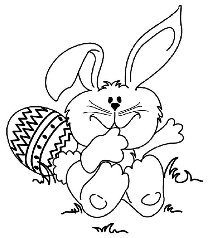 Desenho de Coelhinho da Páscoa para colorir