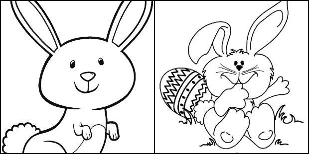 Desenhos de Coelhinho da Páscoa para colorir