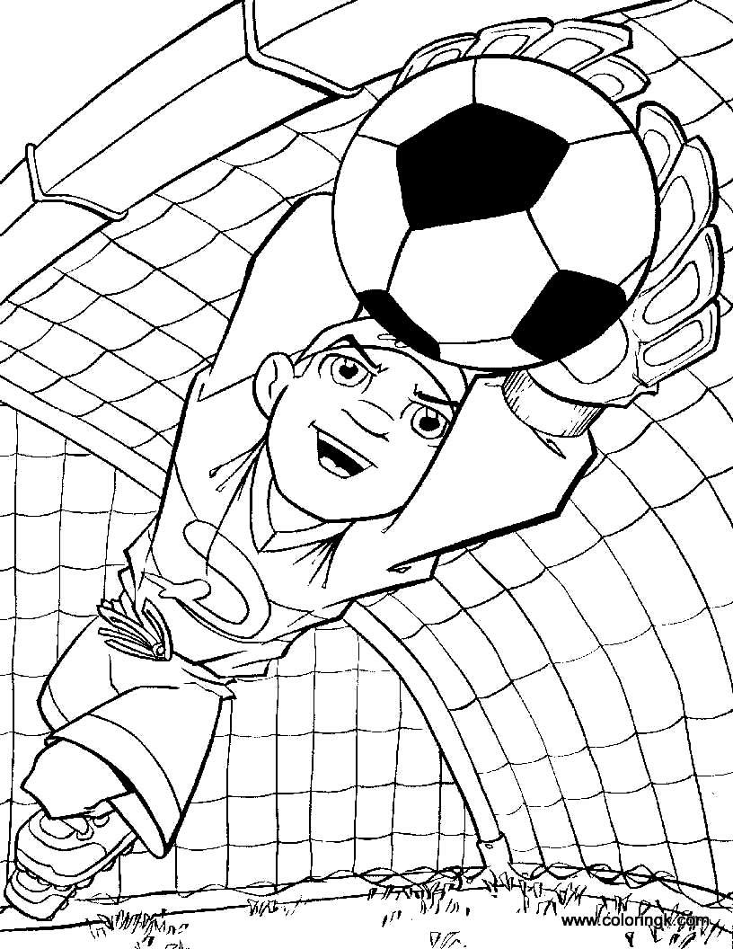 Desenho de goleiro de futebol
