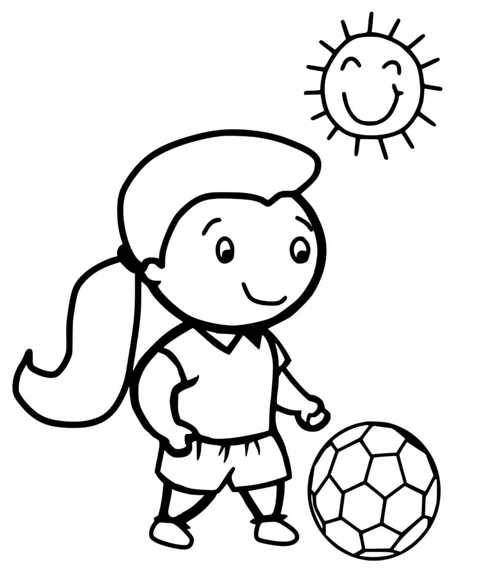 Desenho de jogadora de futebol