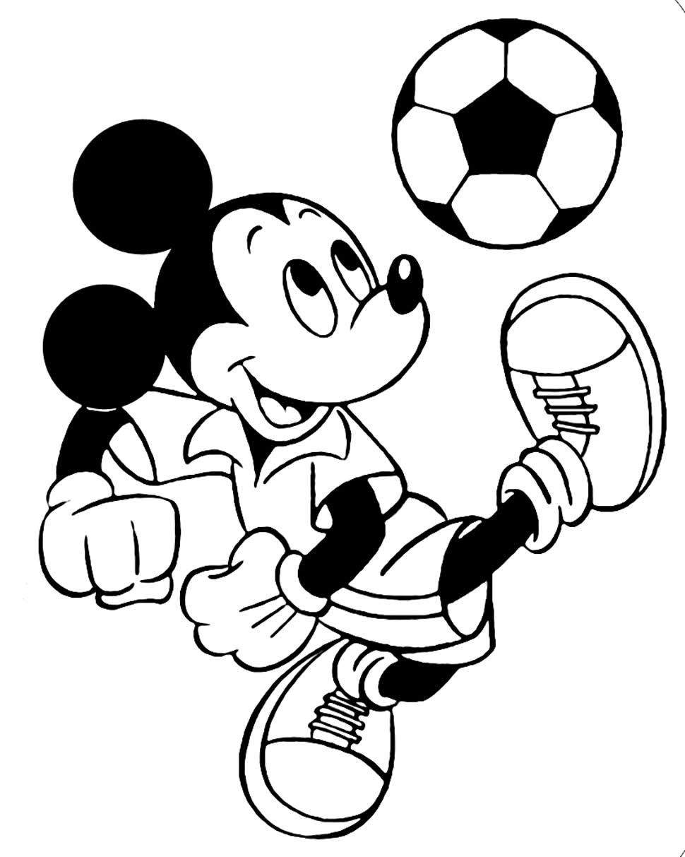 Molde para colorir de futebol