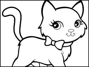 Desenhos de gatinho para colorir