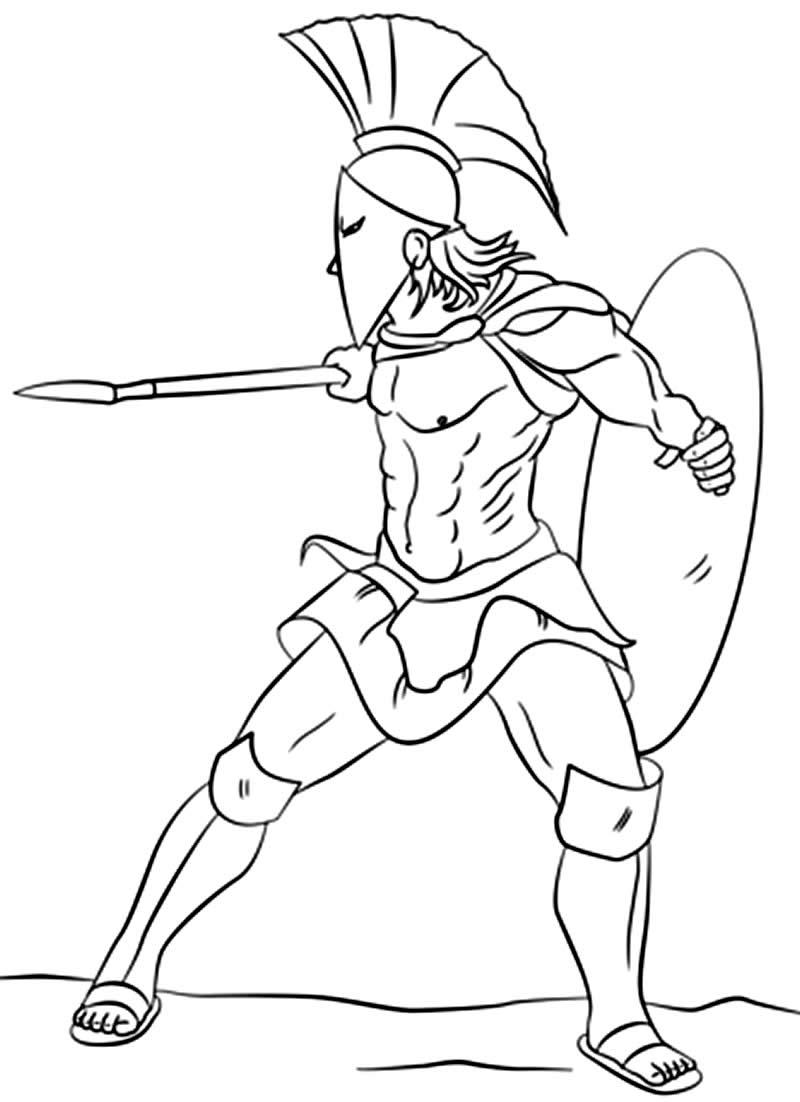 Imagem de guerreiro para pintar
