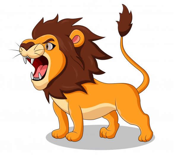 Lindo desenho de leão
